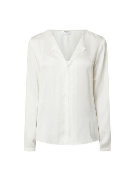 Biały bluzka z kołnierzem z wiskozy Gerry Weber