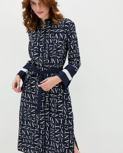 Синее платье Gant