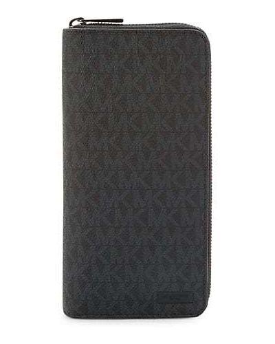 Черный кожаный кошелек со шлицей Michael Kors