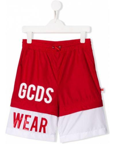 Плавки красный с карманами Gcds Kids