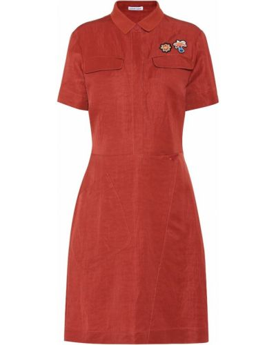 Льняное платье с вышивкой Tomas Maier