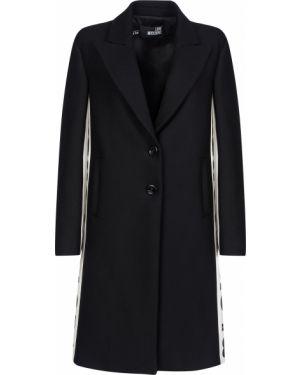 Шерстяное пальто - черное Love Moschino