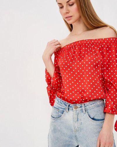 Блузка с открытыми плечами красная Almatrichi