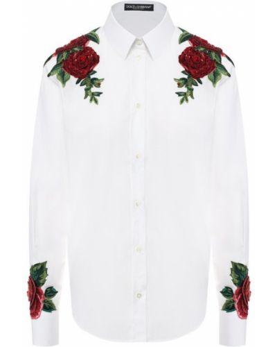 Рубашка с вышивкой деловая Dolce & Gabbana