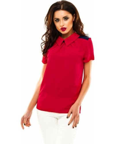 Блузка с коротким рукавом повседневная синяя Lacywear