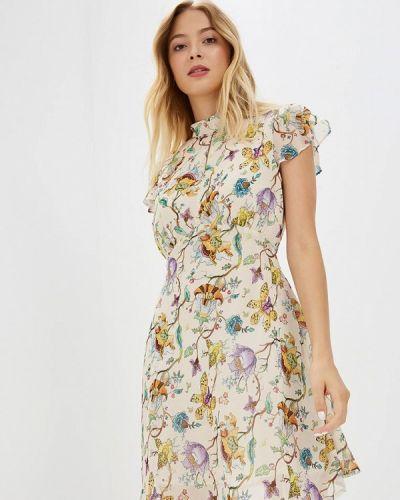 Бежевое платье осеннее Glamorous
