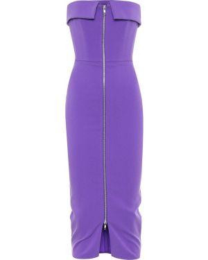 Платье миди на бретелях фиолетовый Alex Perry