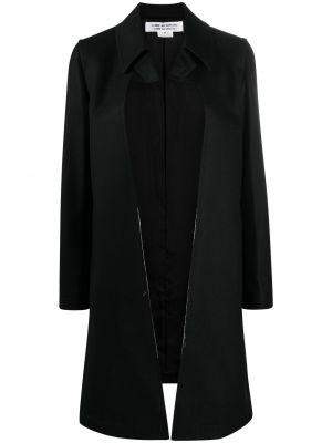 Шерстяное черное длинное пальто на молнии Comme Des Garçons Comme Des Garçons