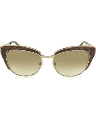 Brązowe okulary Roberto Cavalli
