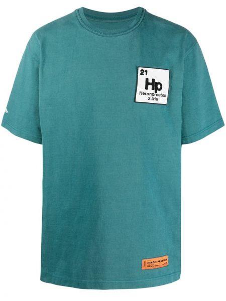 Niebieski bawełna koszula krótkie rękawy Heron Preston