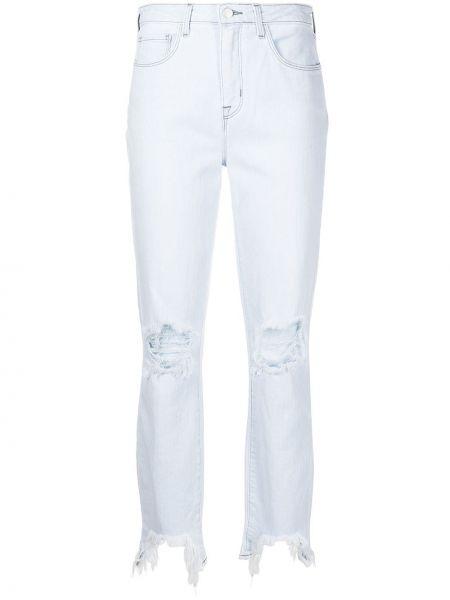 Прямые джинсы с завышенной талией - синие L'agence