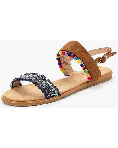 Коричневые сандалии замшевые Kylie