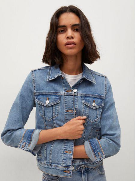 Kurtka jeansowa - niebieska Mango