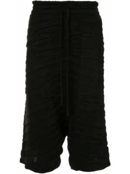 Свободные черные укороченные брюки свободного кроя пэчворк Forme D'expression