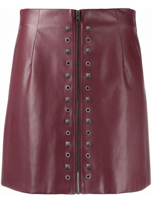 Кожаная юбка мини - красная Patrizia Pepe
