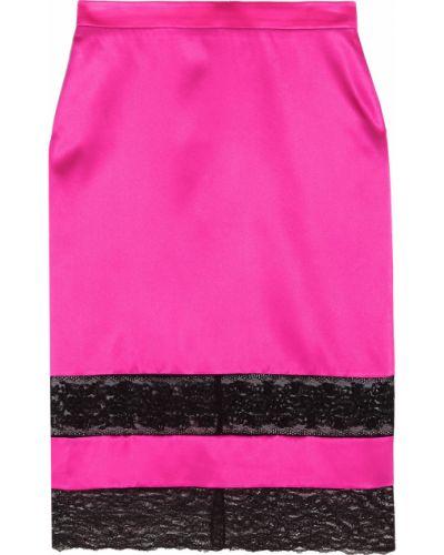 Czarna spódnica ołówkowa koronkowa sznurowana Givenchy