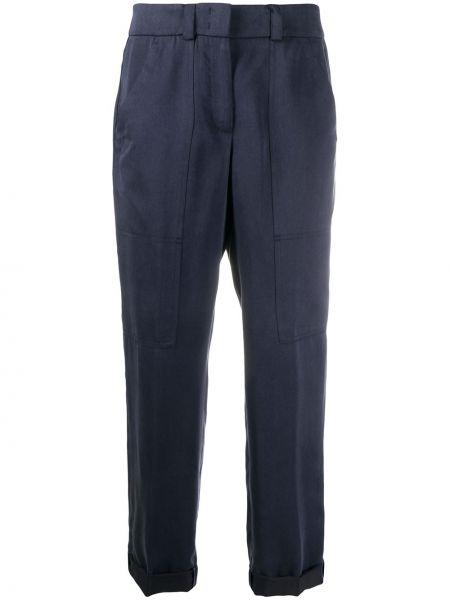Укороченные брюки с завышенной талией брюки-хулиганы Peserico
