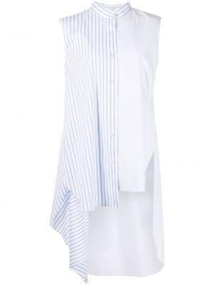 Niebieska biała koszula bawełniana bez rękawów Monse
