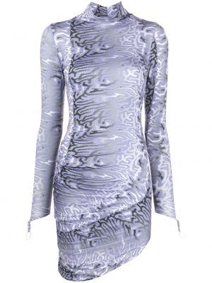 Платье макси с рукавами с принтом Maisie Wilen