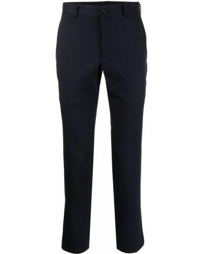 Niebieskie spodnie wełniane z paskiem Comme Des Garcons Homme Plus