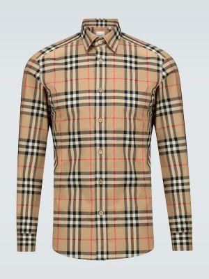 Длинная рубашка - бежевая Burberry