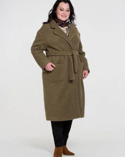 Пальто с капюшоном хаки Intikoma