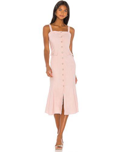 Bielizna z paskiem różowy sukienka midi na paskach Majorelle