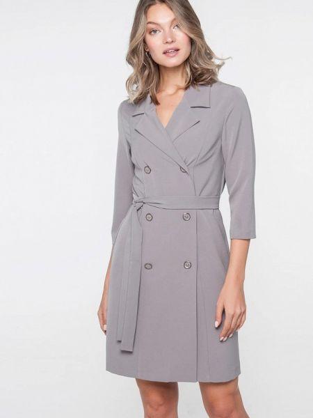Платье серое платье-пиджак Лимонти