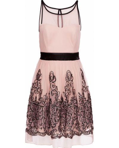 Коктейльное платье с цветочным принтом с вырезом Bonprix