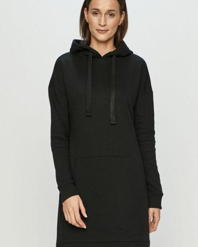 Czarna sukienka mini dzianinowa na co dzień 4f
