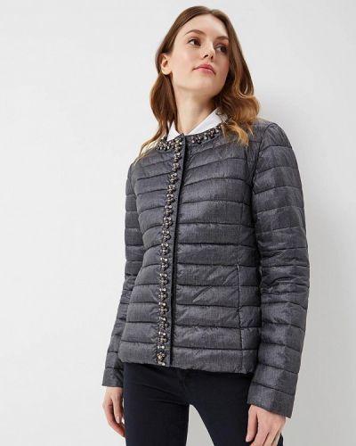 Серая утепленная куртка B.style