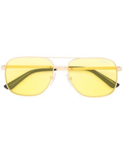 Солнцезащитные очки авиаторы металлические Vogue