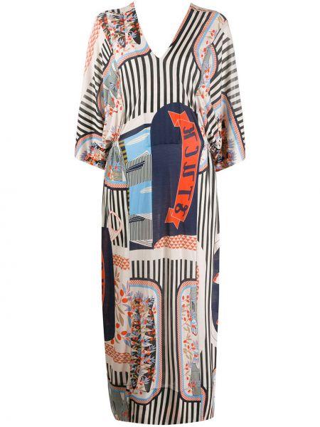 Платье макси с V-образным вырезом трапеция Henrik Vibskov