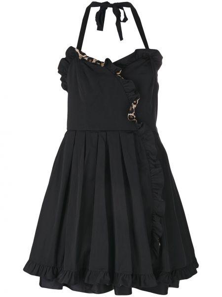 Шелковое черное платье с вырезом Marc Jacobs