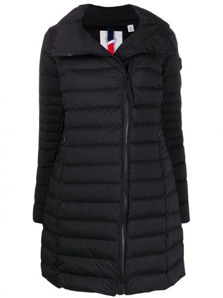 Черное пальто с воротником с перьями на молнии Rossignol