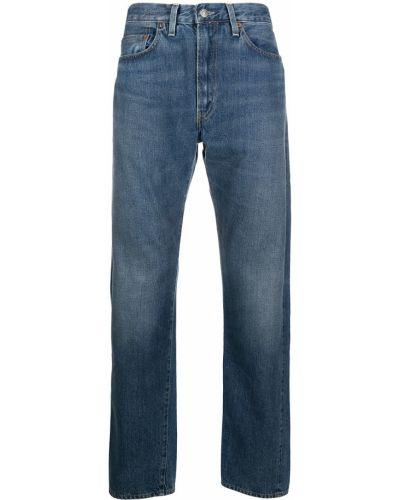 Niebieskie jeansy skorzane z paskiem Levi's