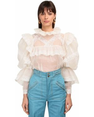 Шелковая рубашка - бежевая Marc Jacobs