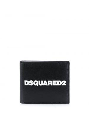 Biały portfel z prawdziwej skóry z gniazdem z fałdami Dsquared2