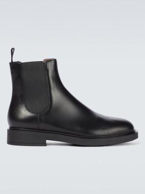 Черные кожаные ботинки челси Gianvito Rossi