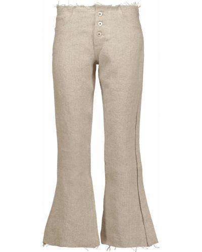 Lniane lniane spodnie Marques Almeida