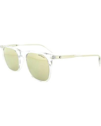 Żółte okulary Montblanc