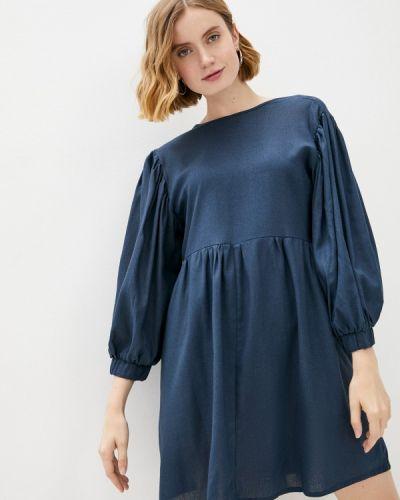 Синее прямое платье Vivostyle