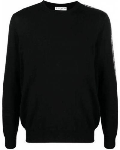 Prążkowana bluza z długimi rękawami wełniana Givenchy