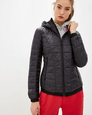 Горнолыжная куртка осенняя черная Ea7