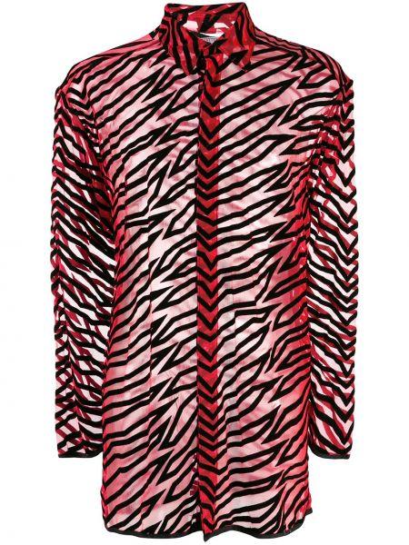 Красная прямая рубашка с воротником винтажная Walter Van Beirendonck Pre-owned