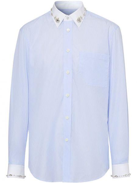 Koszula z długim rękawem klasyczna z paskami Burberry