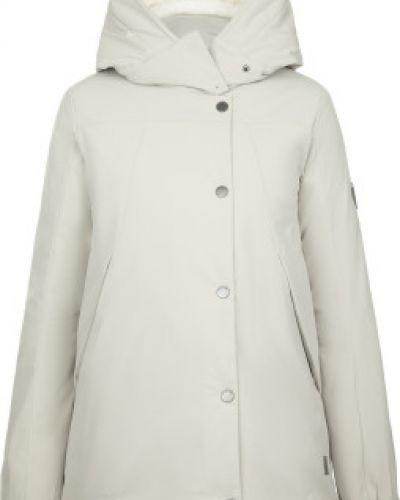 Бежевая теплая свободная утепленная куртка на молнии Outventure