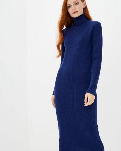 Трикотажное синее вязаное платье Sewel