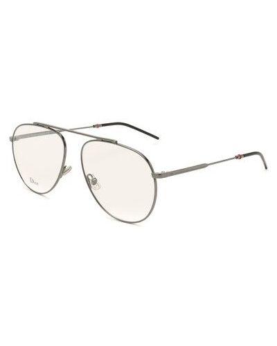 Серые очки металлические Dior