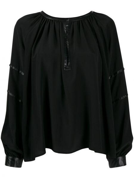Bluzka z jedwabiu - czarna John Richmond